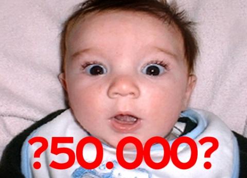 Wie wordt de 50.000ste?
