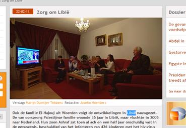 Familie El-Hajouj uit Woerden over Libie