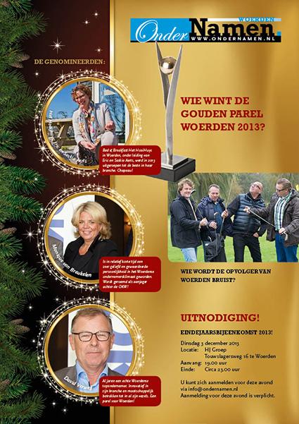Genomineerden verkiezing Gouden Parel Woerden 2013 bekend