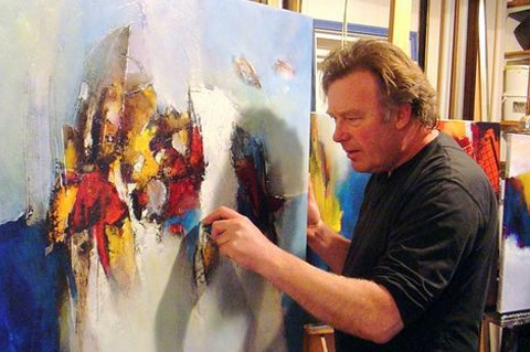 Kunst in Winterse Blauwe Meije