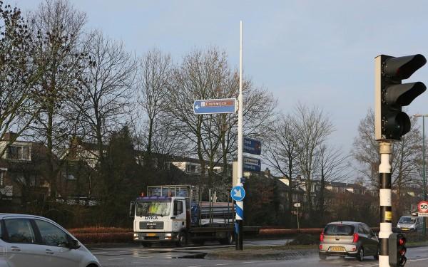 bewegwijzeringsbord geplaats verwijzing naar sportpark Cromwijk