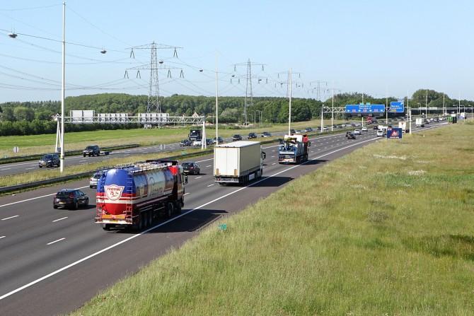 Trajectcontrole A12 Utrecht beide richtingen aan