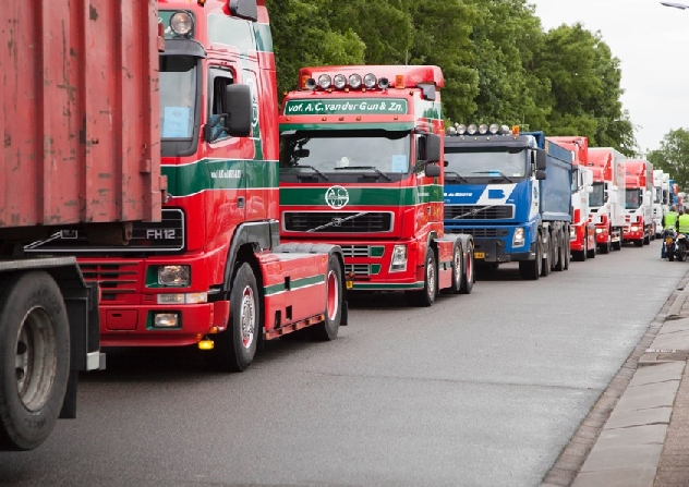 Truckerstocht voor mensen met een beperking