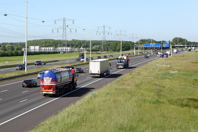 Op- en afrit A12 even dicht