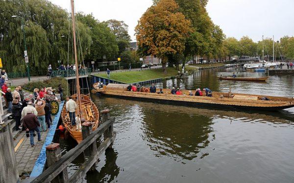 Drie reconstructies van Romeinse schepen in Woerden