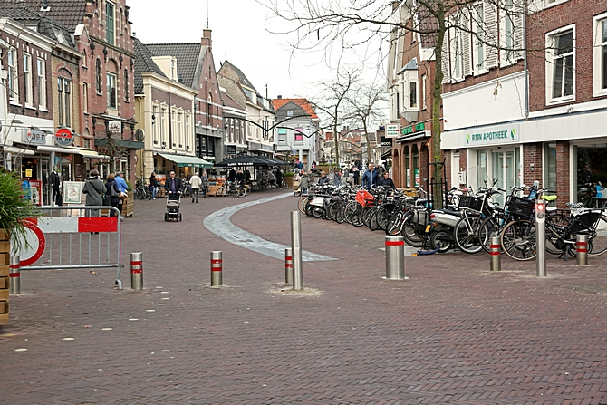 Zakpaal Woerdense Rijnstraat in werking