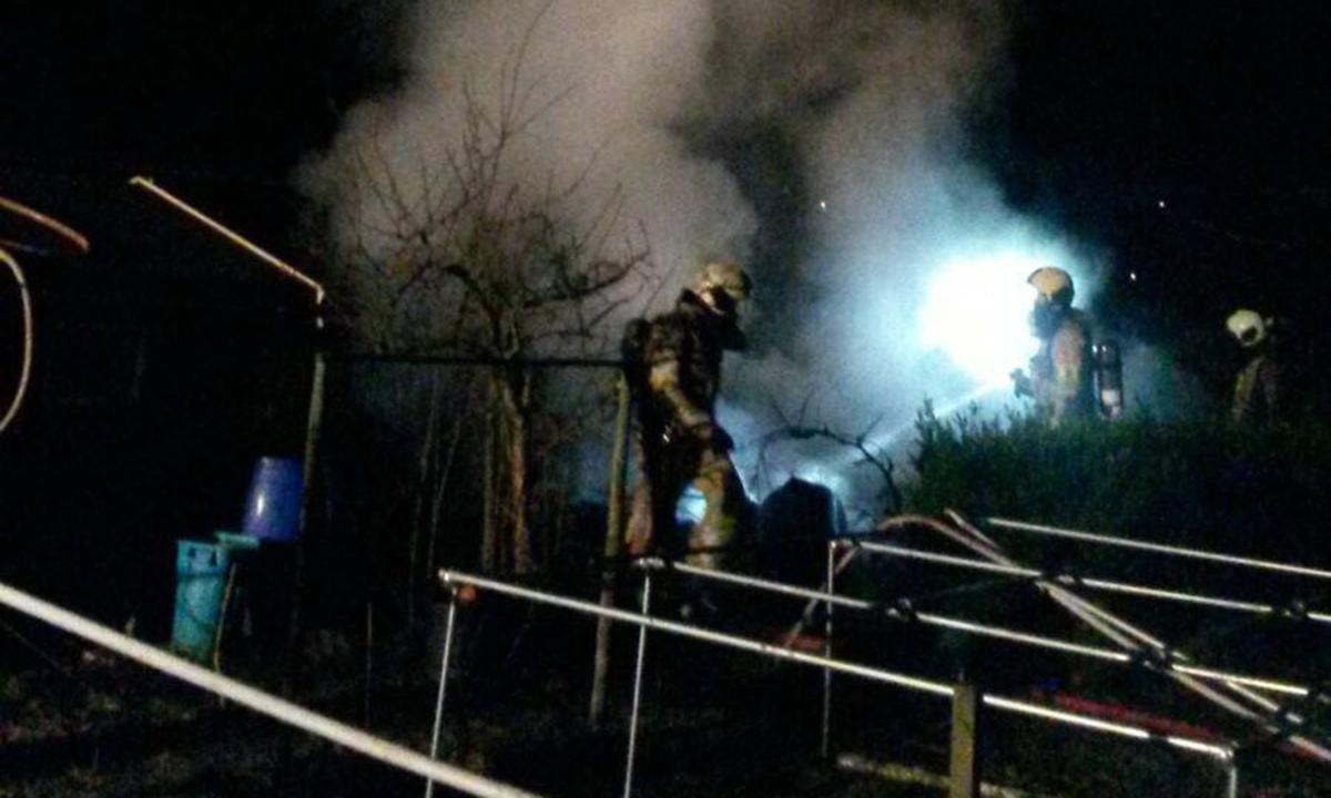 Opnieuw schuur in vlammen op bij Harmelense volkstuinen