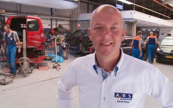 ABS Autoherstel Ad de Goey druk bezig met verbouwing