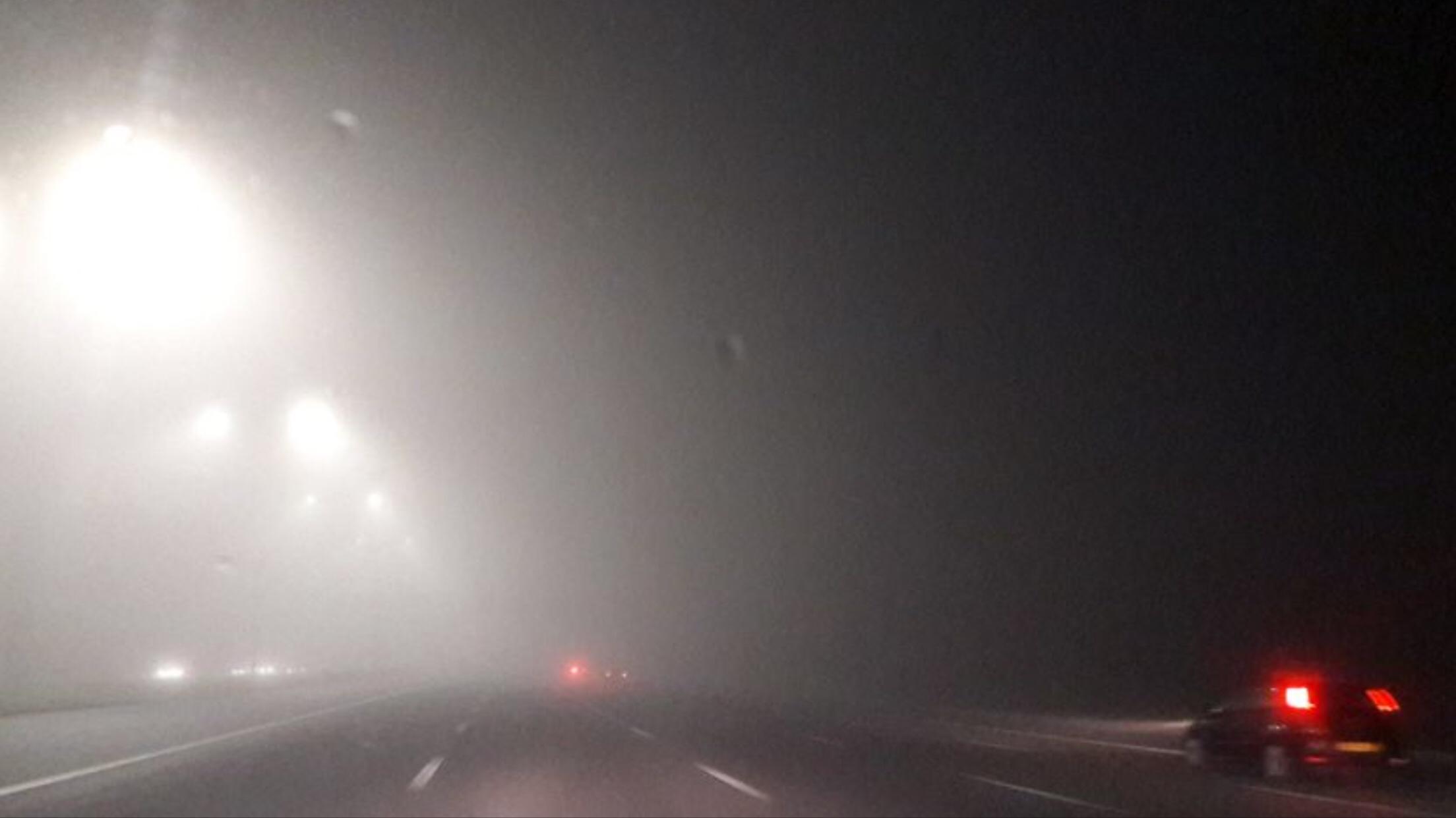 Gevaarlijke situaties door mist