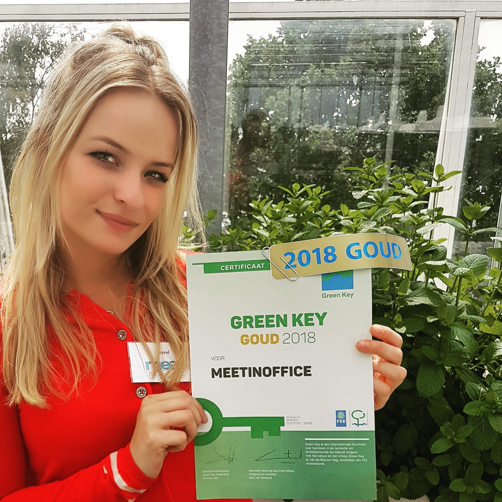 Green Key goud voor MeetINoffice