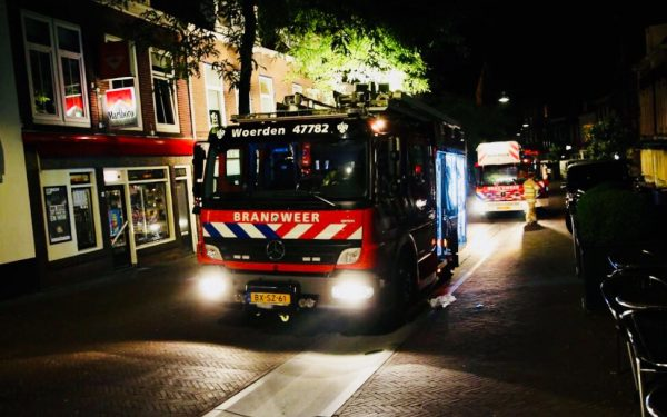 Brandje op dakterras in centrum Woerden