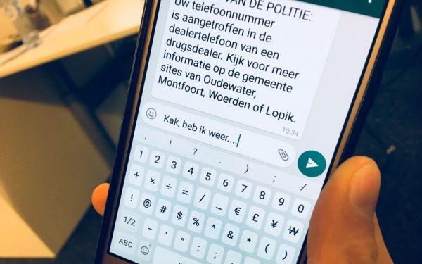 Politie sms't vanavond 160 drugsdealers