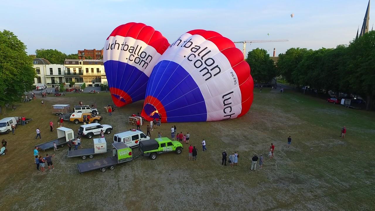 Zo vertrekken luchtballonnen uit Woerden