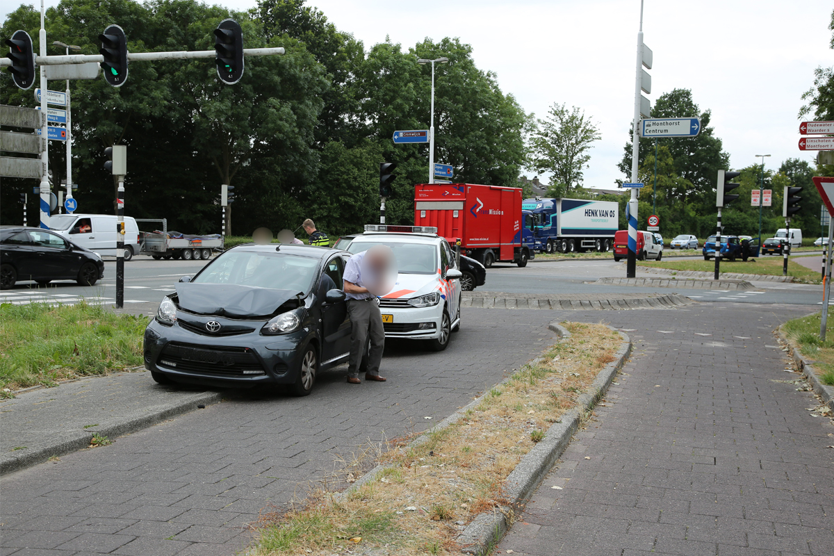 Schade aan auto's na ongelukje