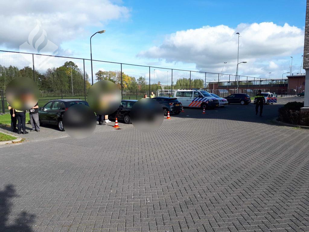 Politie houdt verkeerscontrole in Woerden