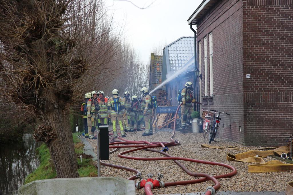 Veel schade bij boerderijbrand in Oudewater