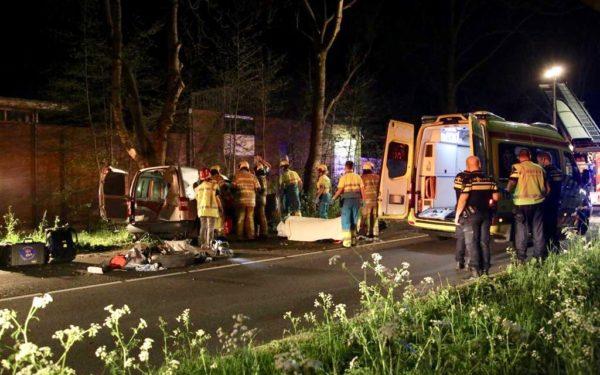 Zwaar gewonde bestuurder na ongeval Oudewater