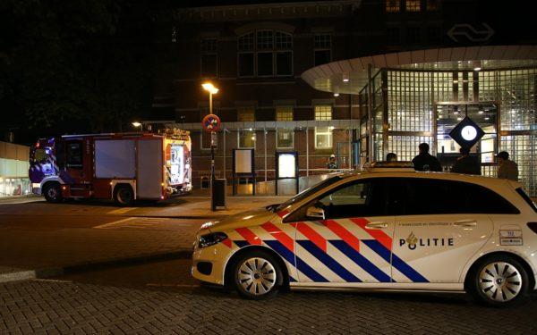 Alarm door rookbom op station Woerden