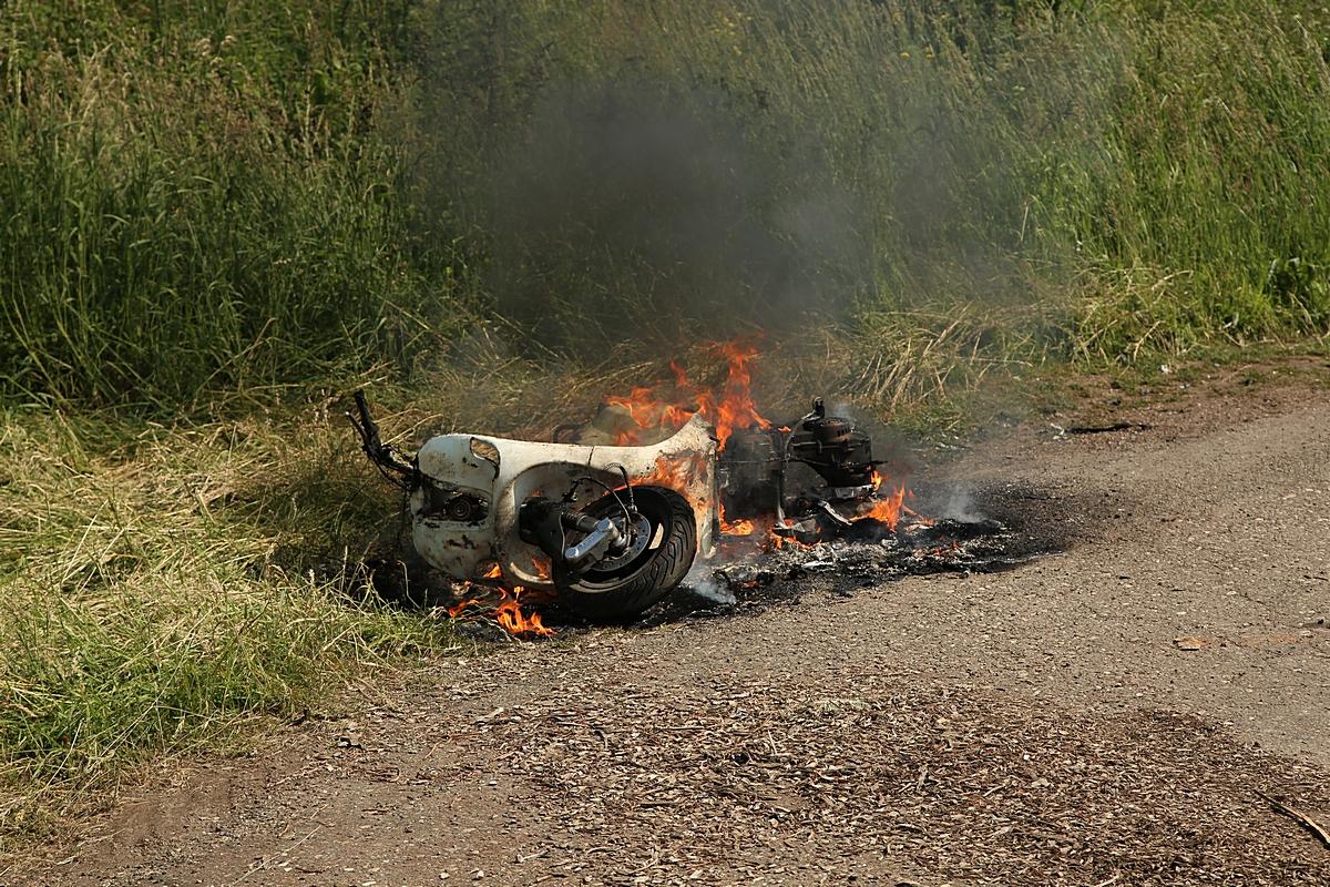 Brandweer blust scooter